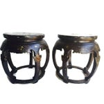 Image of Vintage Chinese Stools/End Tables - A Pair