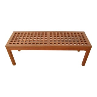 Rectangular Teak, Grid-Top Table