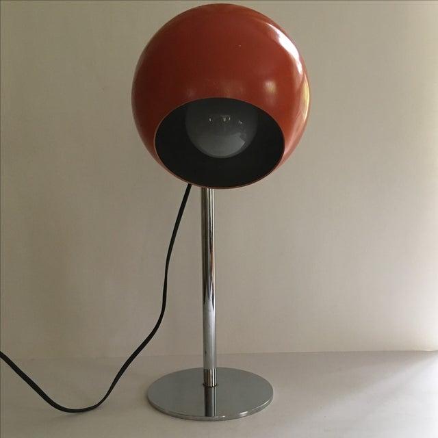 Orange Vintage Mid-Century Eyeball Lamp - Image 4 of 8