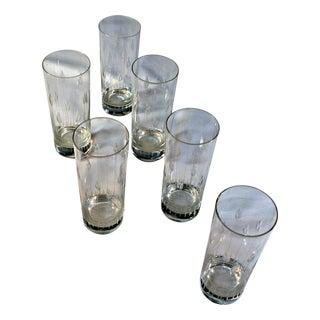 Finely Carved Crystal Glasses - Set of 6