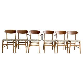 Danish Mid Century Dining Chairs - Set of 6