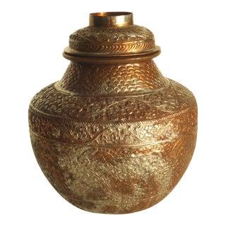 Mixed Metal Repousse Ginger Jar