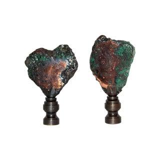 Copper Float Finials - Pair