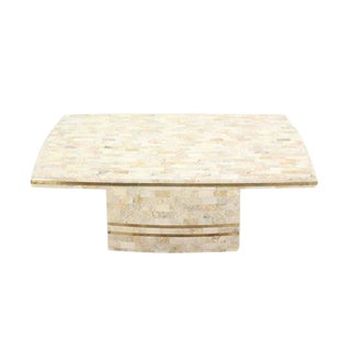 Maitland Smith Brass Inlay Tessellated Coffee Table