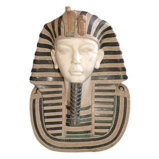 Marble Bust of Egyptian Pharaoh