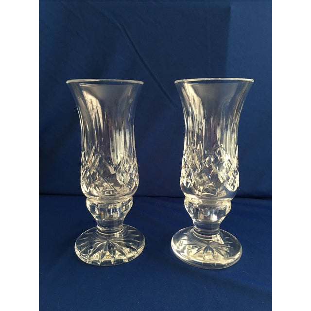 Waterford Lismore Hurricane Lamps - Pair - Image 2 of 8