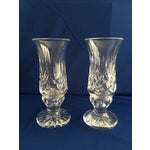 Image of Waterford Lismore Hurricane Lamps - Pair