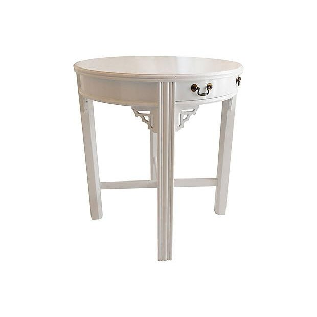 White Lacquer Side Table - Image 4 of 4