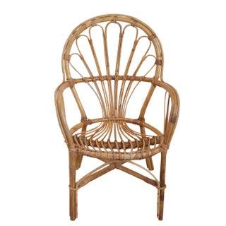 Franco Albini Style Rattan Child's Chair