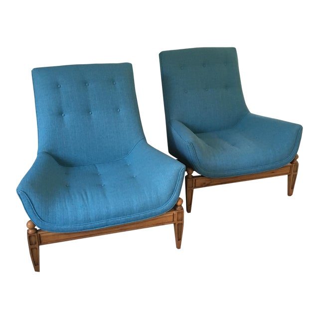 Mid-Century Gondola Chairs - A Pair - Image 1 of 6