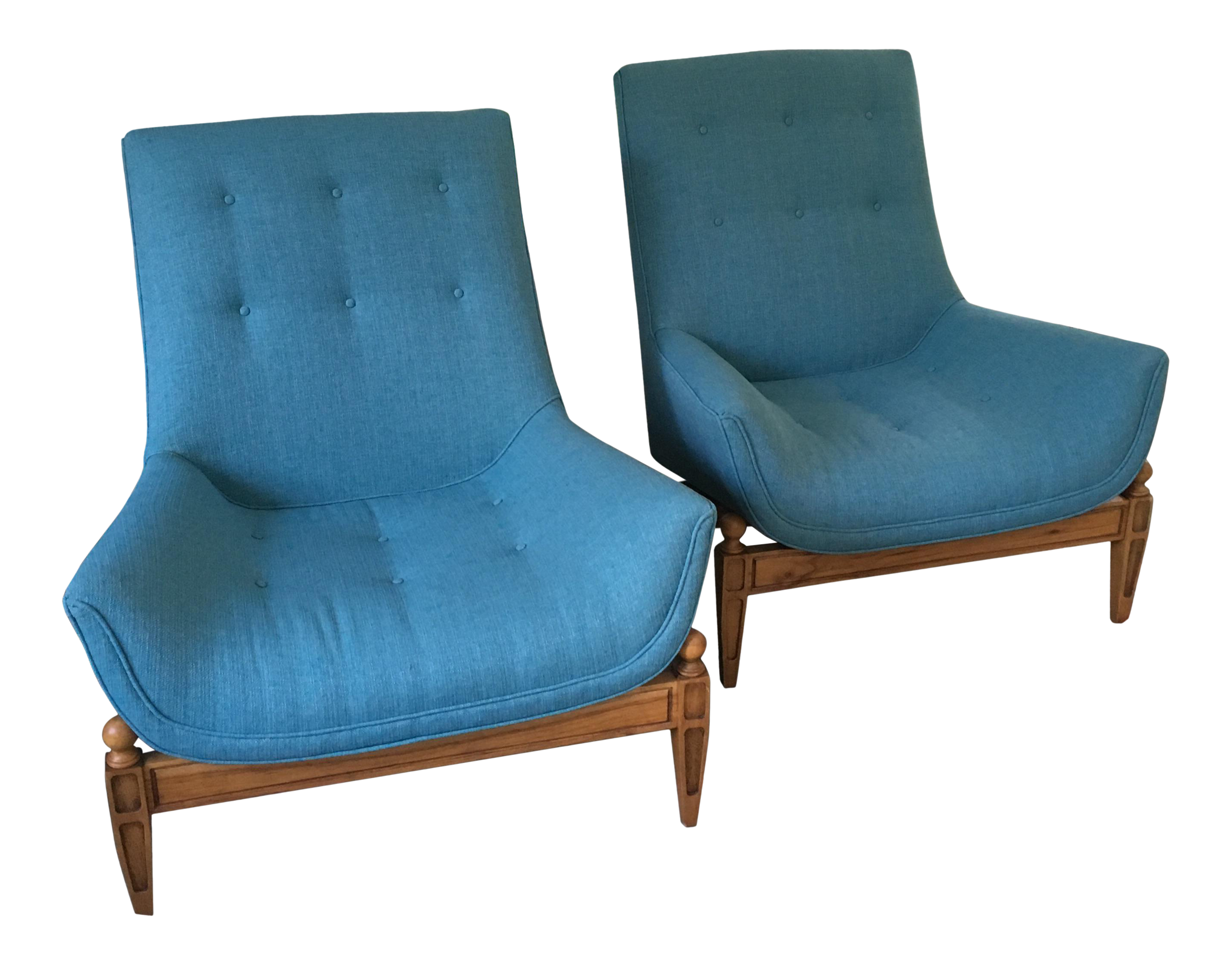 midcentury gondola chairs a pair
