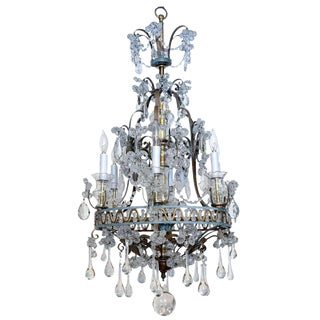 Unusual Maison Bagues French Six-light Chandelier c. 1900