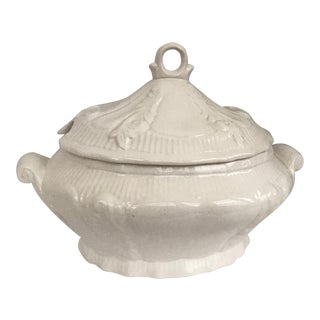 Classic White Ceramic Soup Tureen