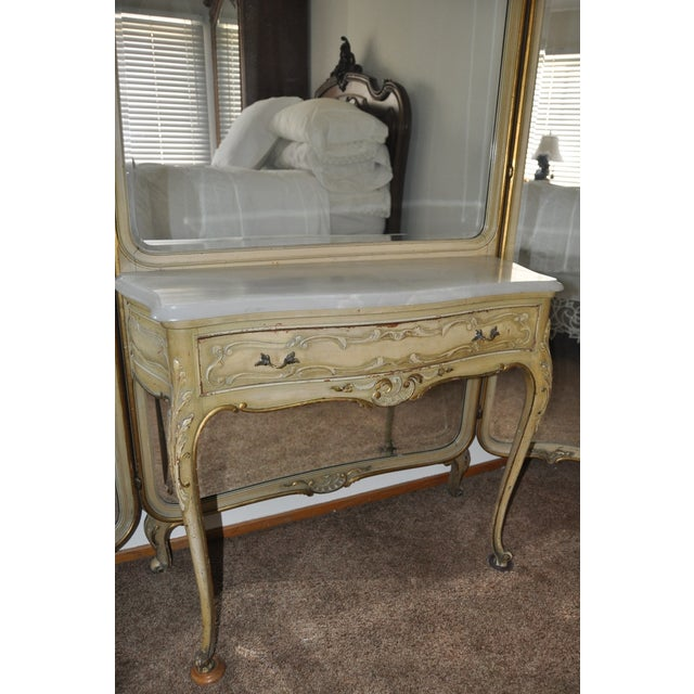 Vintage 1920s French Louis XV Style Vanity - Image 11 of 11
