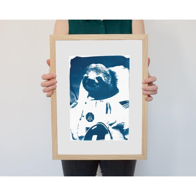 Cyanotype Print- Astronaut Sloth Meme - Image 2 of 4