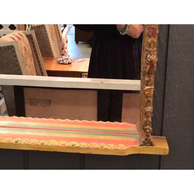 Jo Meade Striking Artisan Carved Mirror - Image 5 of 5