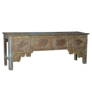 Antique Carved Wood Console Table