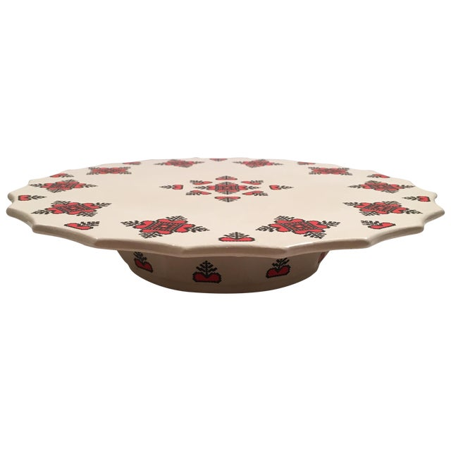 Retro Christmas Ceramic Cake or Cookie Stand - Image 1 of 8
