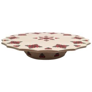 Retro Christmas Ceramic Cake or Cookie Stand