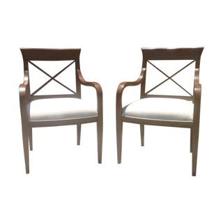 Mid-Century Modern Style Accent Chairs - A Pair