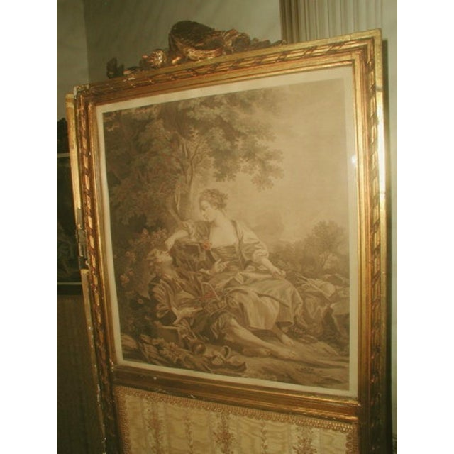 Image of French Gilt Screen Mirrored Lithographs