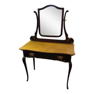 Queen Anne Vanity With Mirror