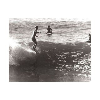 Black & White Vintage Surfer Photo XII