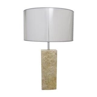 Mid-Century Modern Raymor Travertine Italian Marble Table Lamp MCM Flli Mannelli Style