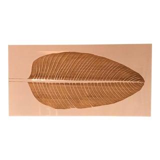 Z Gallerie Lacquer & Wood Leaf Artwork