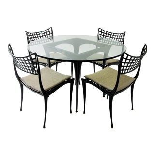 Dan Johnson 'Sol y Luna' Dining Set with Four Chairs