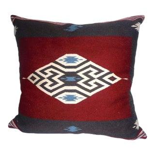 Large Eye Dazzler Indian Weaving Pillow