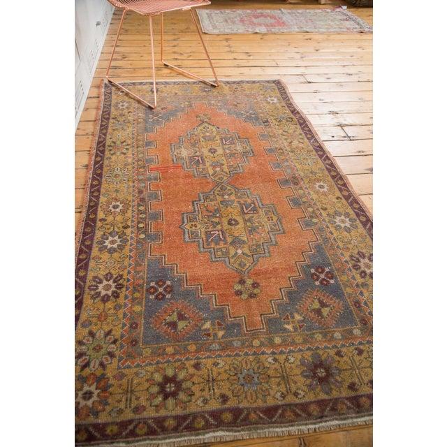 "Vintage Distressed Oushak Rug - 3'9"" x 6'6"" - Image 10 of 11"