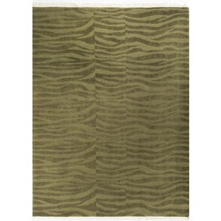 Modern Contemporary Wool Rug - 9' X 12'