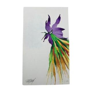"""""""First of Purple"""" Original Watercolor Painting by Steve Klinkel"""