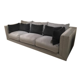 Swaim Contemporary Gray Velvet Sofa