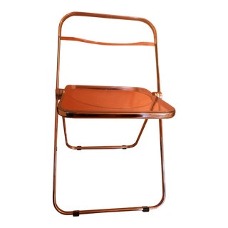 "Giancarlo Piretti ""Plia"" Lucite Folding Chair for Anonima Castelli"