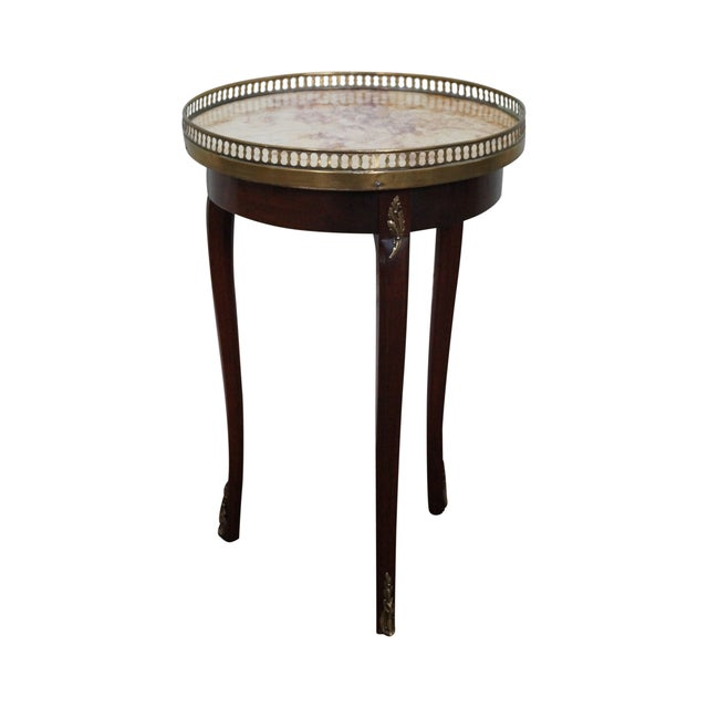 Image of French Louis XV Style Marble Top Side Table
