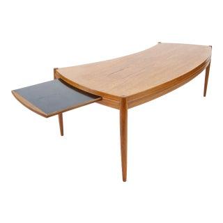 Johannes Andersen for Trensum Teak Curved Coffee Table
