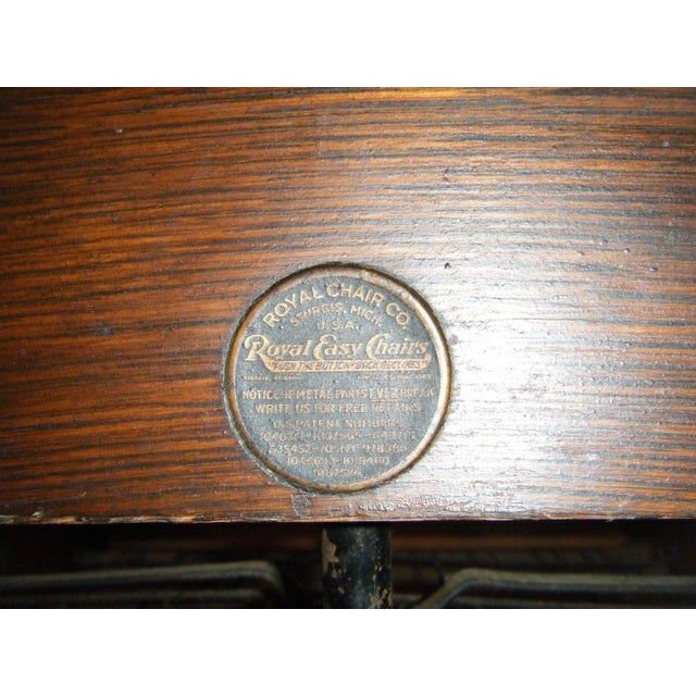 Antique 1911 Mission Oak Reclining Morris Chair - Image 5 of 5