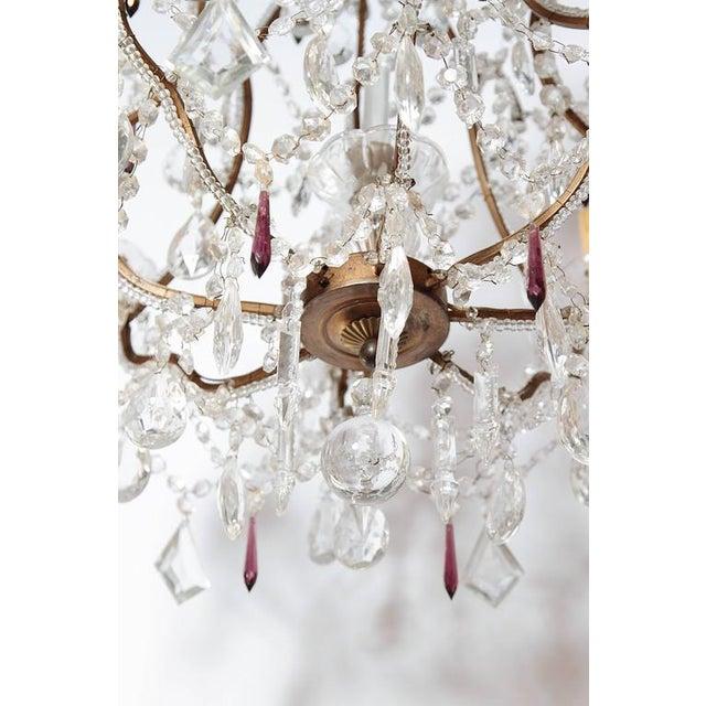 19th Century Italian 8-Light Crystal Chandelier - Image 9 of 10