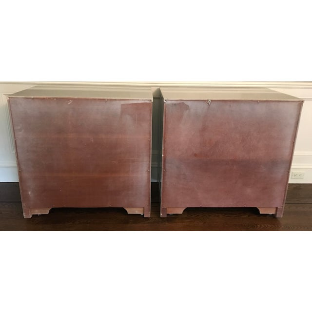 Vintage RWAY Gray Lacquered Chest of Drawers - A Pair - Image 6 of 11