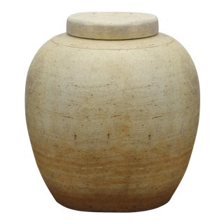 Vintage Sarreid Ltd Unglazed Lidded Jar