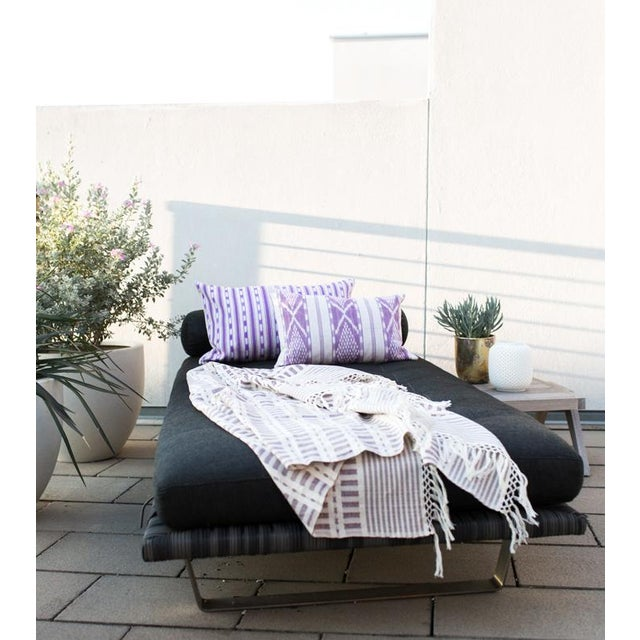 Mauve Handwoven Mexican Throw - Image 5 of 6