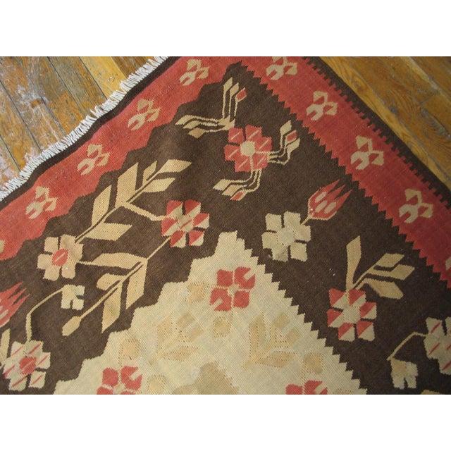 "Vintage Besserabian Flat-Weave - 6'7"" x 9'5"" - Image 3 of 5"