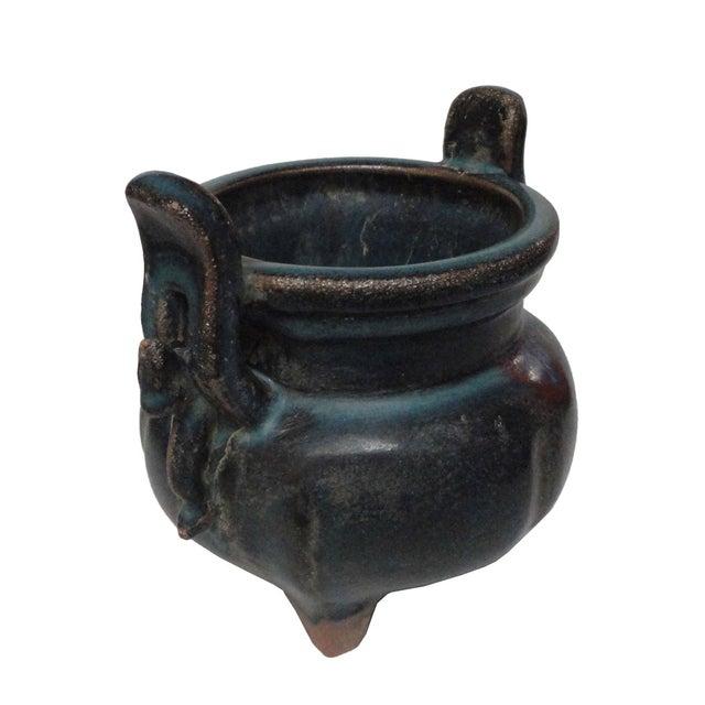 Image of Chinese Porcelain Blue/Red Display Incense Burner