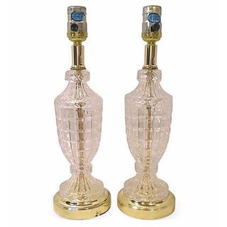 Lead Crystal Table Lamps - A Pair