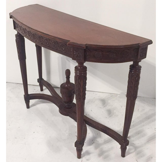 Antique Mahogany Demi-lune Table - Image 2 of 9