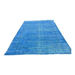 Turkish Overdyed Blue Rug - 11″ × 6′8″