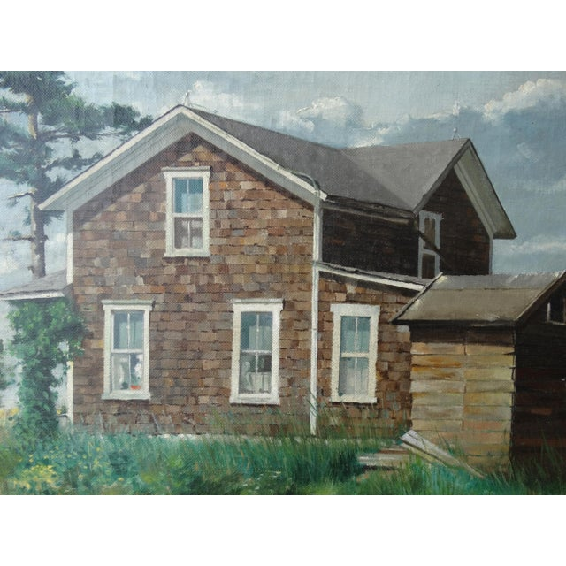 Image of Vintage Landscpe Oil Painting by Russell