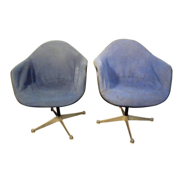 Image of Herman Miller Mid-Century Shell Chairs - A Pair